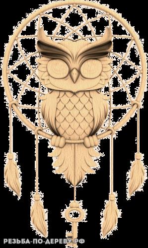 Сова Ловец снов из дерева
