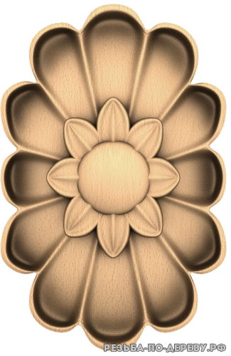 Розетка (698) из дерева