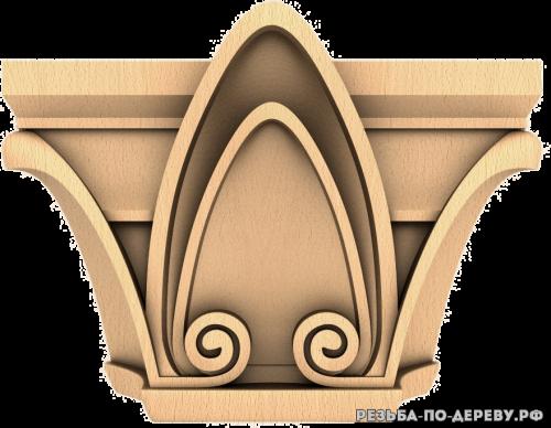 Капитель (119) из дерева