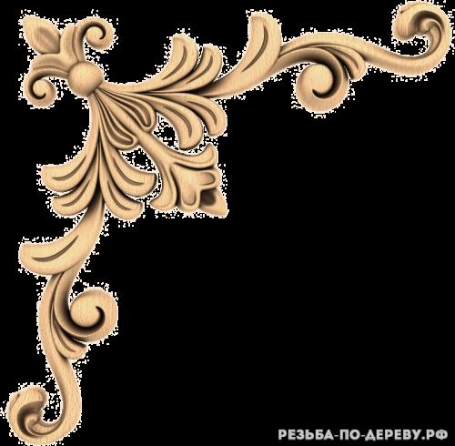 Угловой декор (91) из дерева