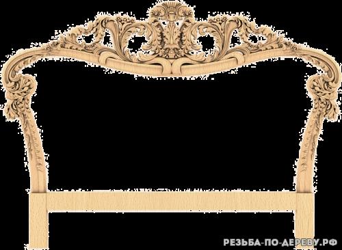 Декоративная спинка кровати (41) из дерева