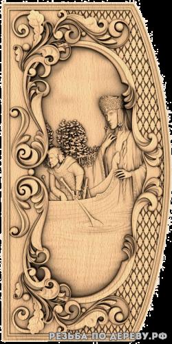Резное панно Берегиня (5 серия) из дерева