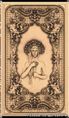 Резное панно Купальская ночь (1 серия) из дерева