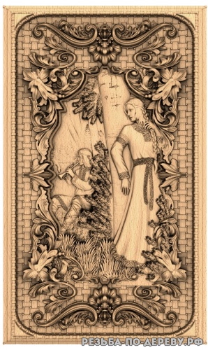Резное панно Лель (1 серия) из дерева