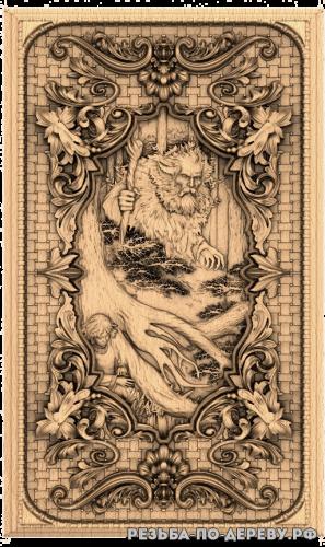 Резное панно Леший (1 серия) из дерева
