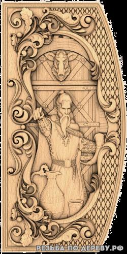 Резное панно Локи (5 серия) из дерева
