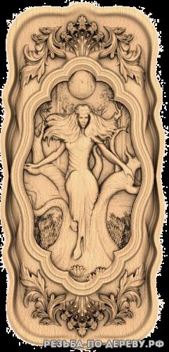 Резное панно Мара (3 серия) из дерева
