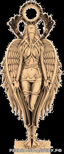 Девушка-Ангел №2 из дерева