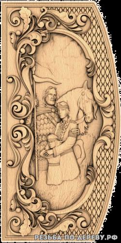 Резное панно Русь (5 серия) из дерева