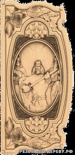 Резное панно Священный огонь (4 серия) из дерева