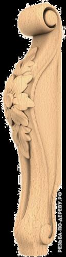 Резная балясина (488) из дерева