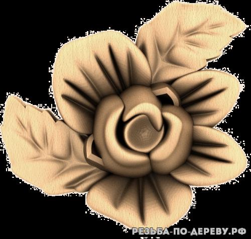 Резное панно Цветы (93)