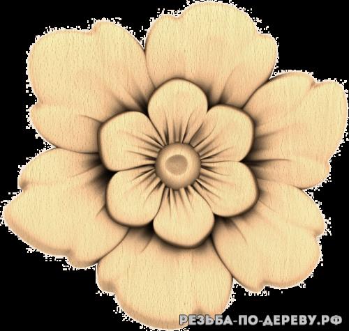 Резное панно Цветы (96)