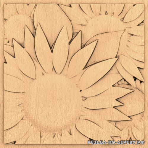 Панель №118 из дерева