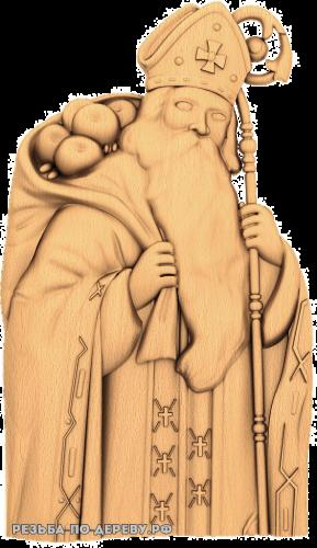 Резное панно Гуси из дерева