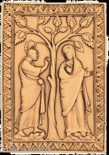 Резное панно №51 из дерева