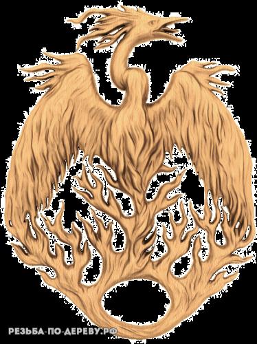 Резное панно Дракон №6 из дерева