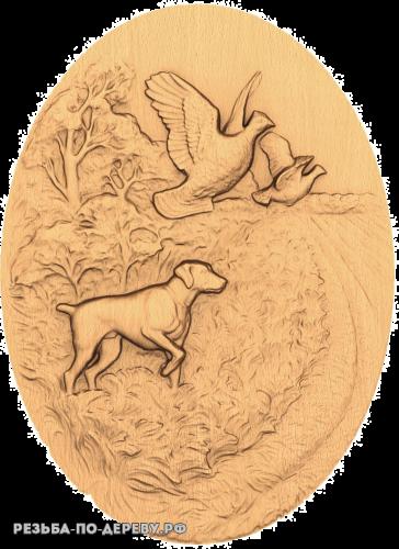 Резное панно Лесополоса из дерева