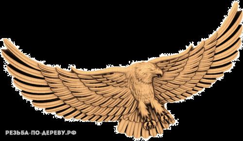 Резное панно Орёл №5 из дерева