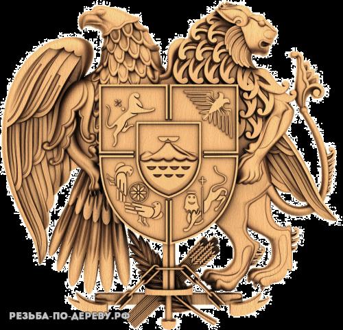 Герб Армении из дерева
