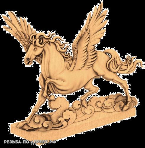 Резное панно Сказочная лошадка №2 из дерева