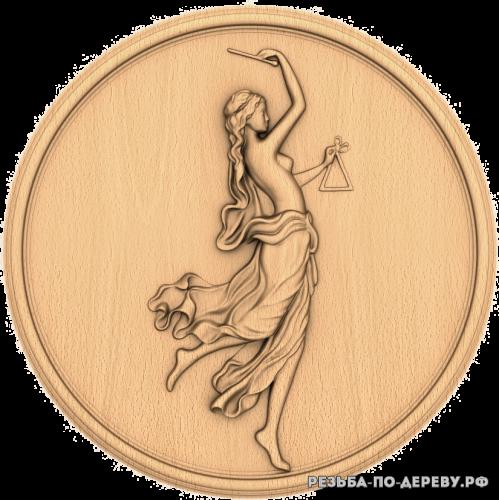 Резное панно Девушка №18 из дерева