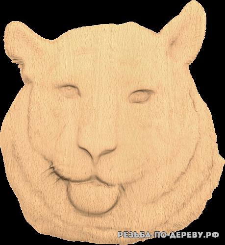 Голова Тигра №3 из дерева