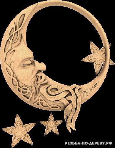 Месяц (луна) из дерева