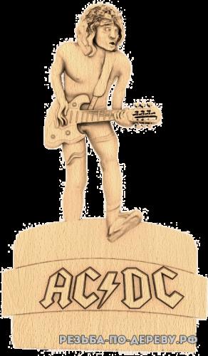 Резное панно Австралийская рок-группа ACDC из дерева