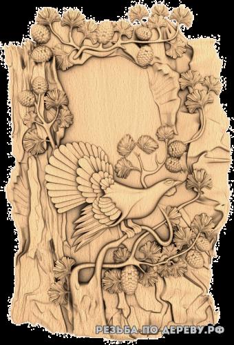 Резное панно Глухарь (6) из дерева