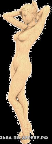 Резное панно Девушка на шпильках из дерева