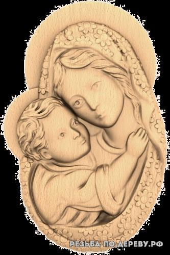 Резная икона Богородица #13 из дерева