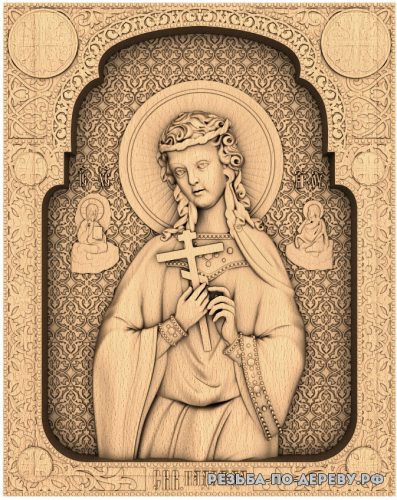 Резная икона Святая Надежда из дерева
