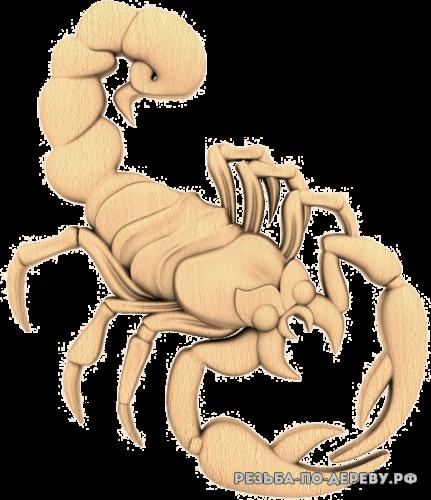 Скорпион (2) из дерева