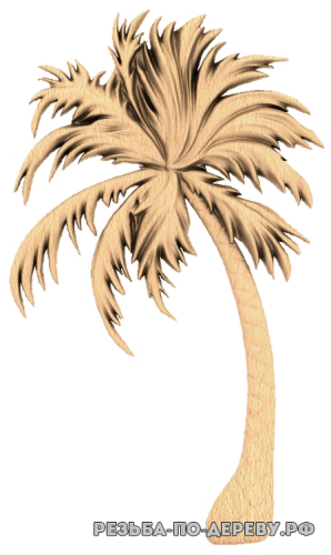 Резное панно Пальма (1)