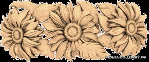 Резное панно Подсолнухи (3)