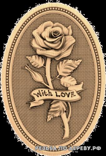 Резное панно Роза (2)