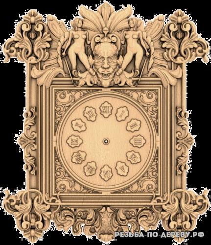 Резные Часы #31