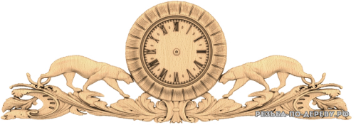 Резные Часы #37