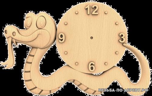 Резные Часы Змея