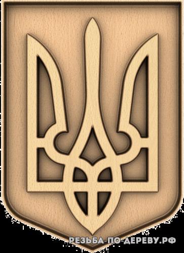 Герб Украины Трезубецц из дерева