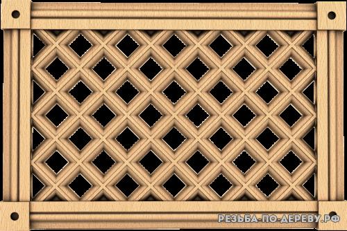 Декоративная Решетка №30 из дерева