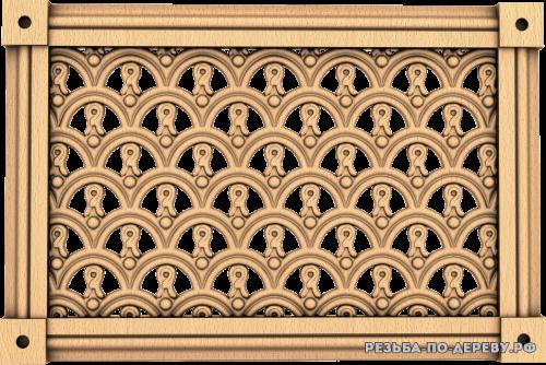 Декоративная Решетка №40 из дерева