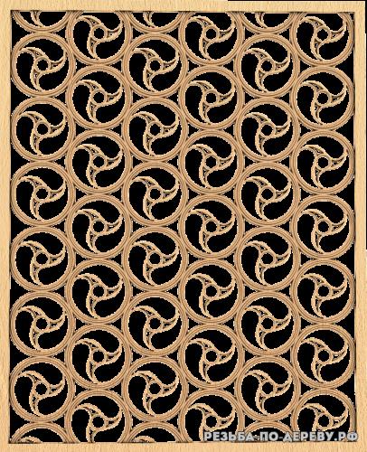 Декоративная Решетка №21 из дерева