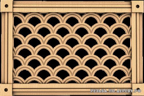 Декоративная Решетка №32 из дерева