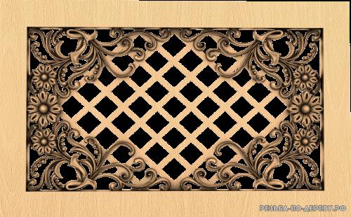 Декоративная Решетка №22 из дерева