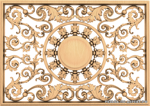 Декоративная Решетка №43 из дерева