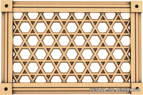 Декоративная Решетка №33 из дерева