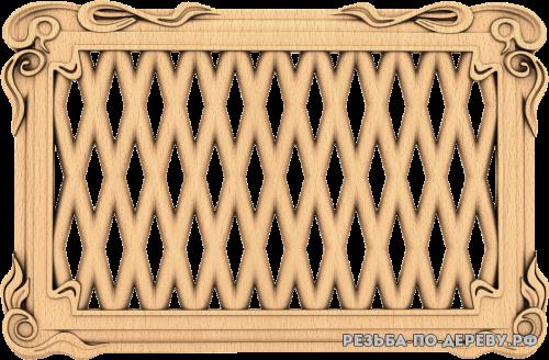 Декоративная Решетка №24 из дерева