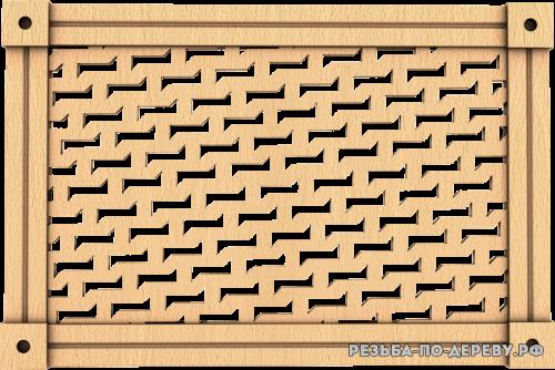 Декоративная Решетка №34 из дерева